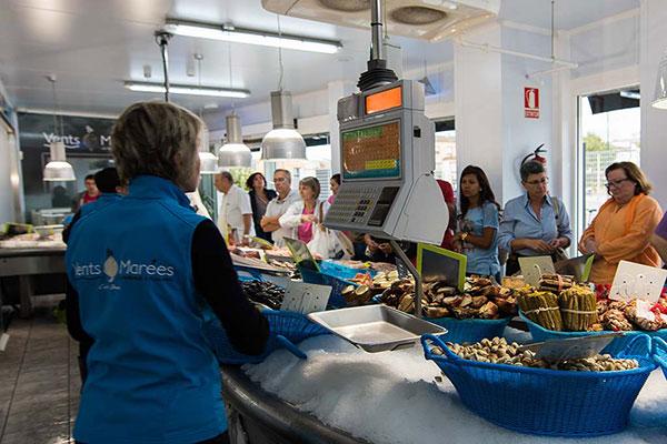 ambiente tienda venta pescado vents marees